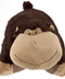 pillow silly monkey brown size -large