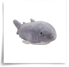 Grey Pillow Pet Pee Wee Shark