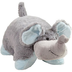 pillow pets nutty elephant grey blue