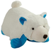 pillow polar bear super-soft chenille plush