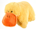 pillow duck yellow -pillow -super-soft chenille