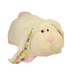 pillow pets cream bunny white pink