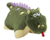 pillow dragon green super-soft chenille plush