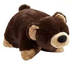 pillow pets bear dark brown hard