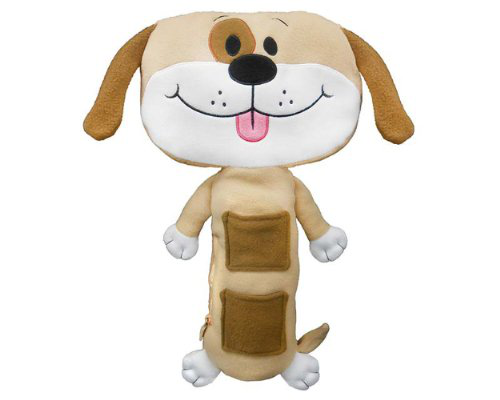 Tan Dog Car Seat Toy
